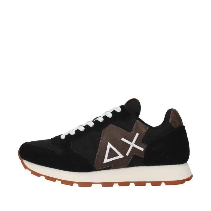 Sun68 Z40110 chaussures de tennis faible homme NOIR