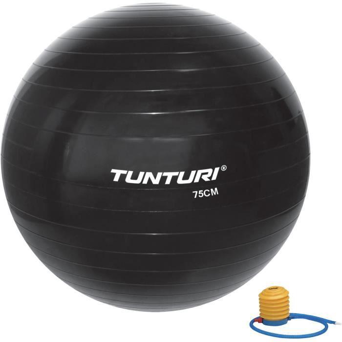 TUNTURI Gym ball ballon de gym 75cm noir