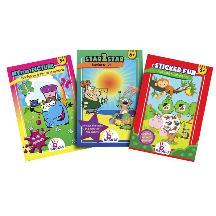 Livres D Activites Pour Enfants De 5 A 6 Ans Paquet De 3 Comprend Des Dessins Amusants Avec Des Symboles Des Chiffres De 1 A 75