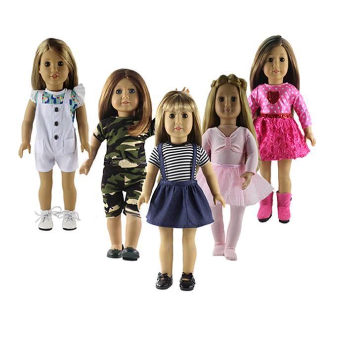 Girls Baby Doll Chaussettes sur carte Poupée Chaussettes pour 40-45 cm Poupées Accessoires Robe