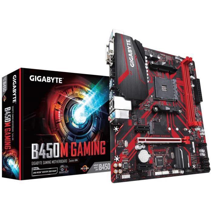 CARTE MÈRE Gigabyte B450M Gaming Carte mère Intel AMD B450 So