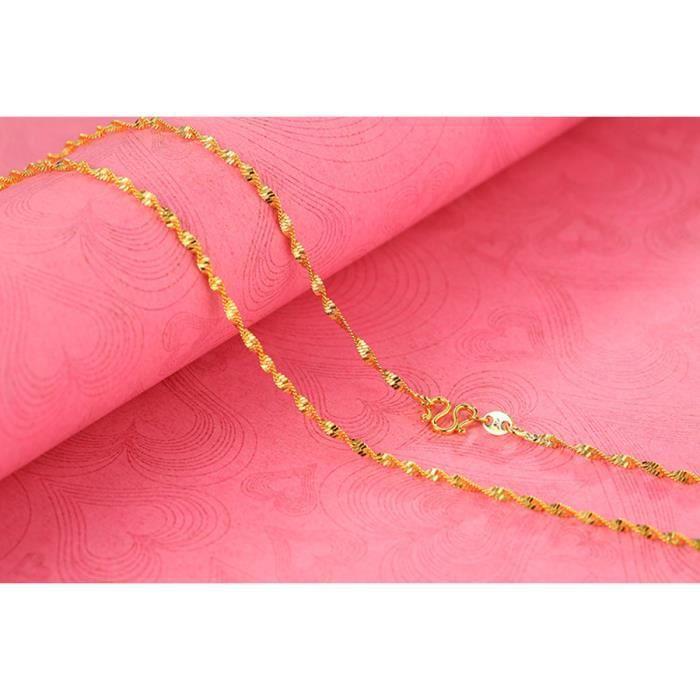 CHAINE DE COU SEULE Collier chaîne en or bijoux pour femmes Homme et h