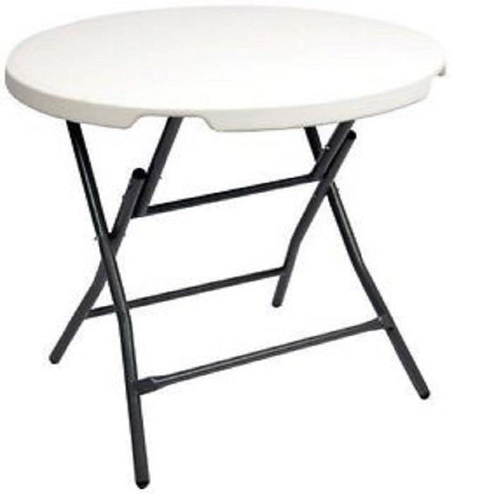 Table ronde pliable Bistro Ø 80 cm - Achat / Vente table de jardin ...