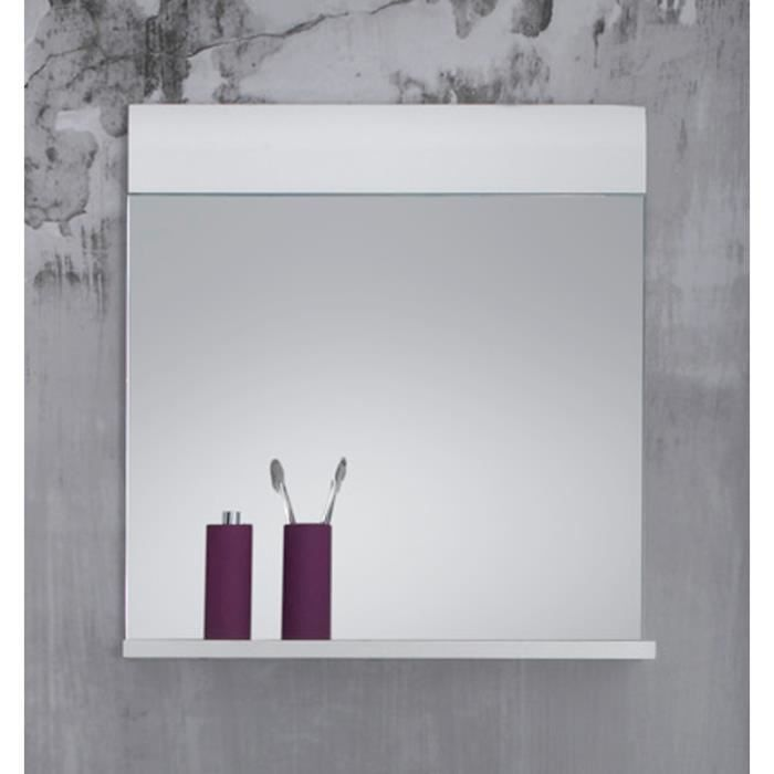 miroir salle de bain skin blanc brilliant achat vente miroir salle de bain cdiscount. Black Bedroom Furniture Sets. Home Design Ideas