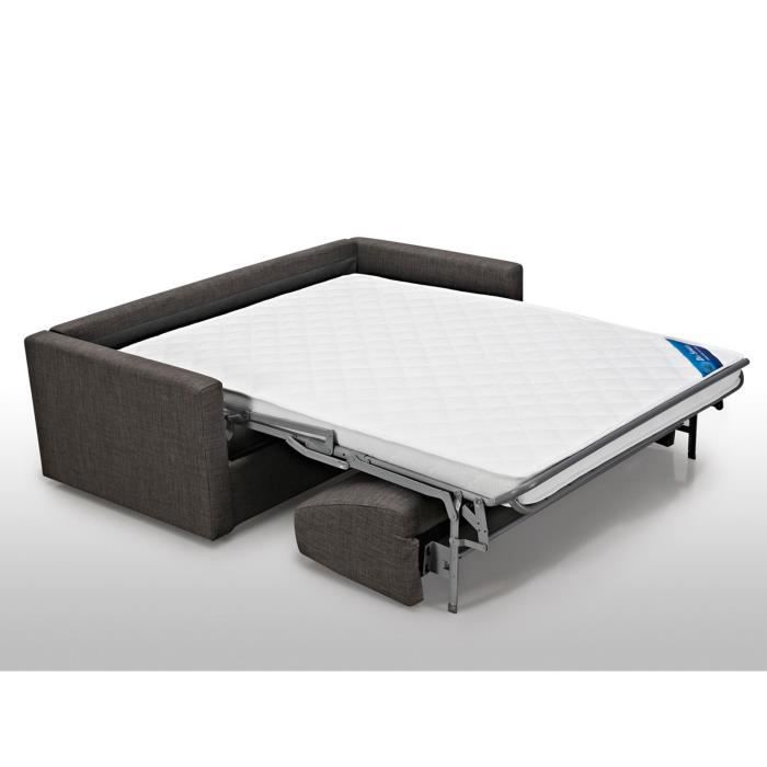 Canap convertible 2 places coloris gris fonc achat vente clic clac cd - Lit 1 place convertible 2 places ...