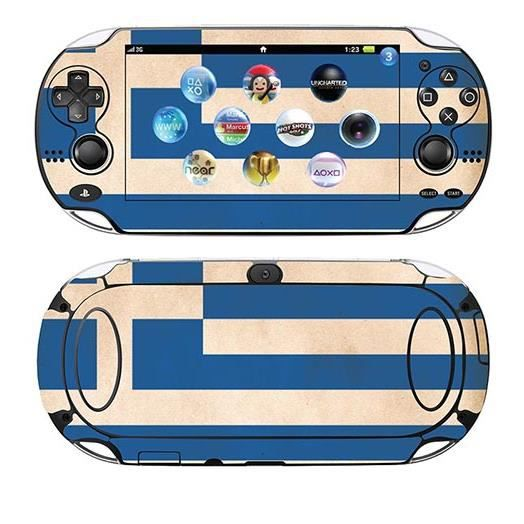 skin stickers pour sony ps vita sticker greece flag. Black Bedroom Furniture Sets. Home Design Ideas