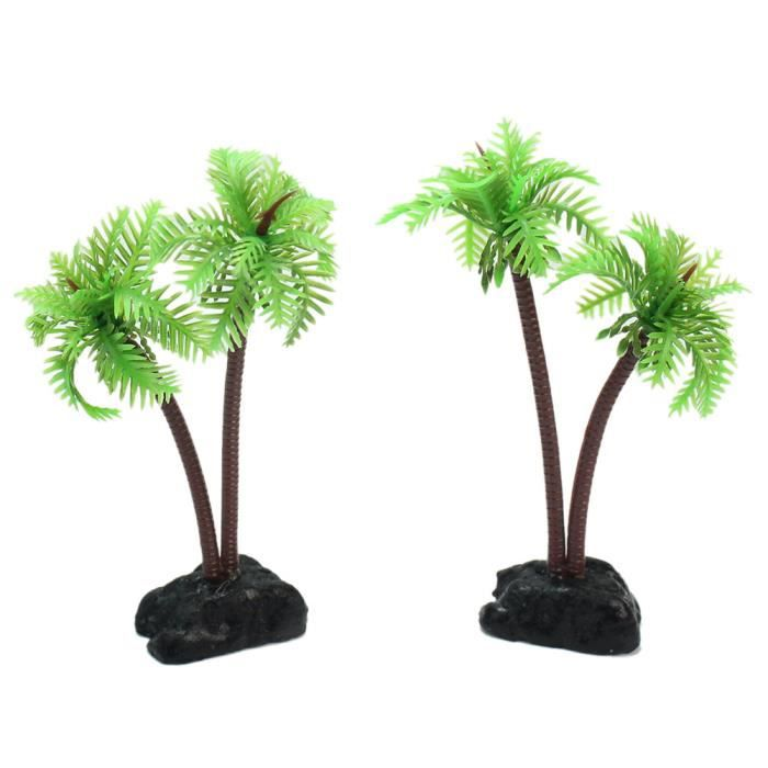 2x aquarium poisson cocotier plante d co plastique for Achat plante bassin