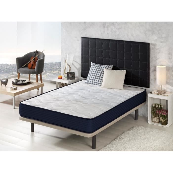 matelas dormalit airlatex 140x200 hybrid system cyanlatex hauteur 19 cm achat vente. Black Bedroom Furniture Sets. Home Design Ideas