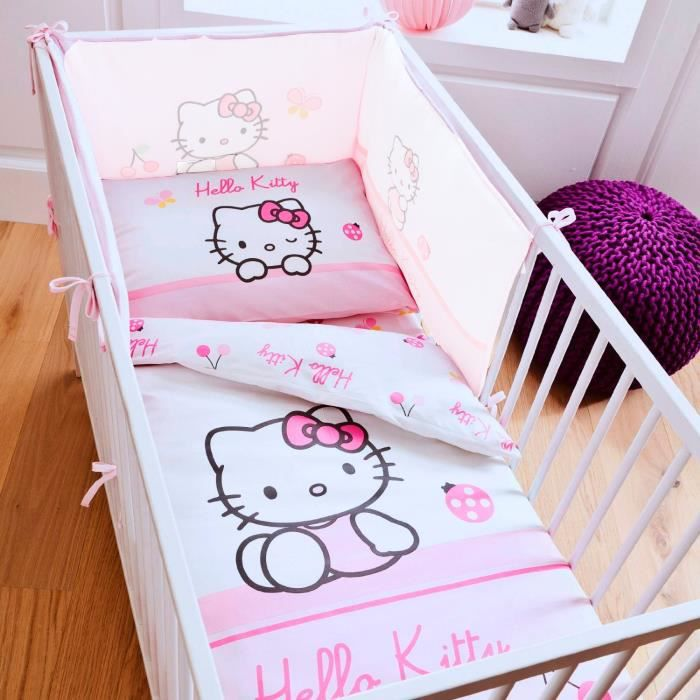 parure de lit b b hello kitty coccinelle achat vente. Black Bedroom Furniture Sets. Home Design Ideas