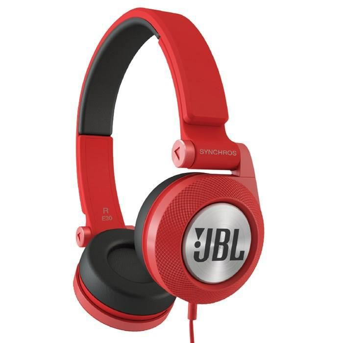 jbl casque filaire e30 supra auriculaire rouge casque couteur audio avis et prix pas cher. Black Bedroom Furniture Sets. Home Design Ideas