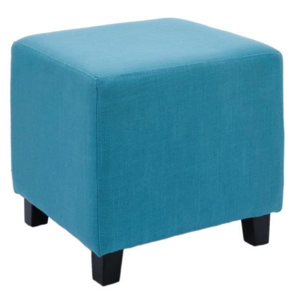 pouf carr en lin pop bleu achat vente pouf poire lin bois pin contreplaqu cdiscount. Black Bedroom Furniture Sets. Home Design Ideas