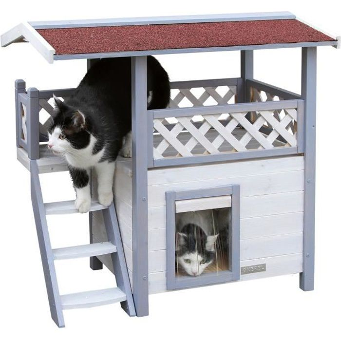 Kerbl niche pour chat lodge ontario 77x50x73cm achat for Niche exterieur chat