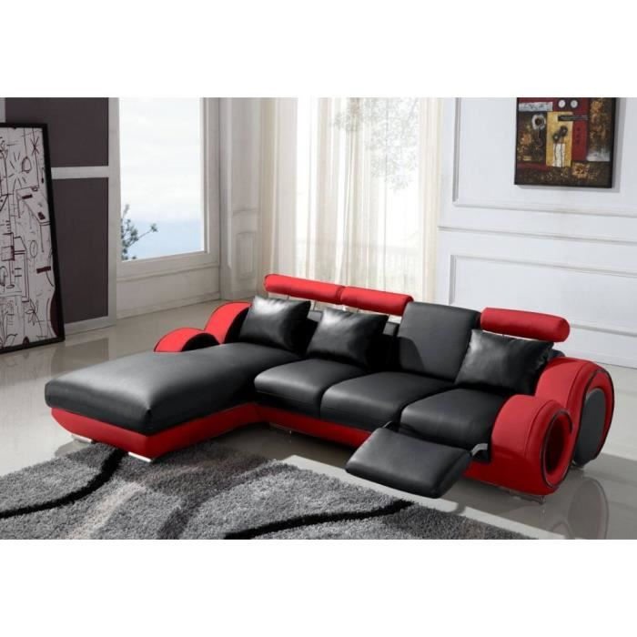 canap design m ridienne fresno assise noire c achat vente canap sofa divan cuir pvc. Black Bedroom Furniture Sets. Home Design Ideas