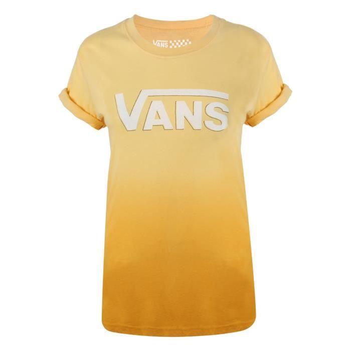 t shirt vans femme jaune