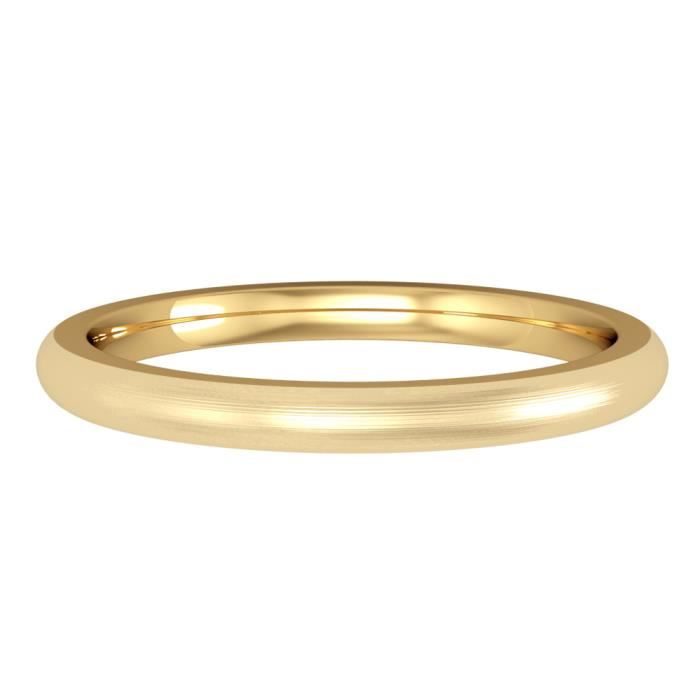 Jewelco London Or Jaune 18k mariage bague 2mm