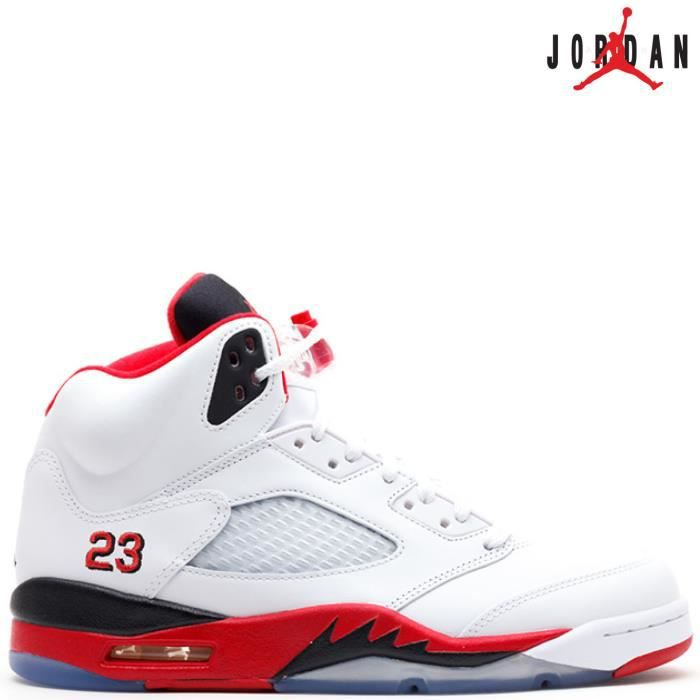 b820f79947d Nike Air Jordan 5 Retro V 136027-120 FIRE RED 23 white fire red ...
