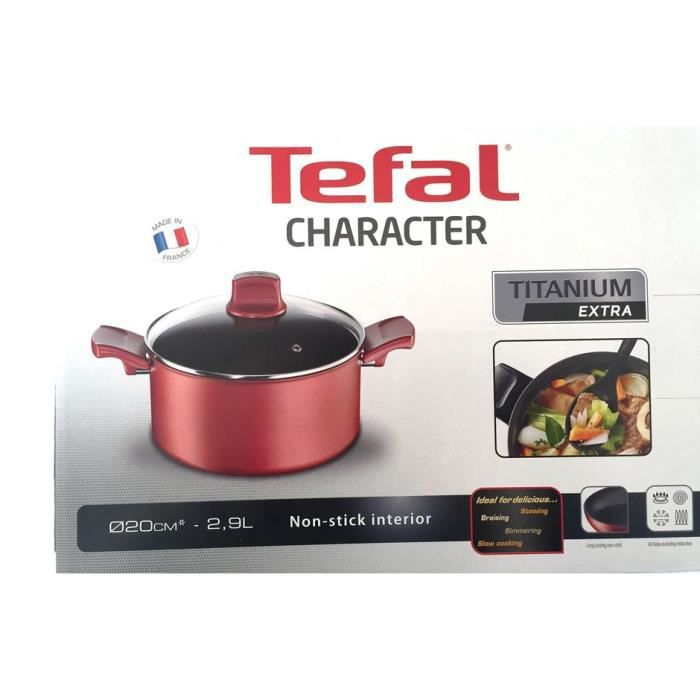 faitout tefal gamme character 20 cm induction achat vente faitout marmite faitout tefal. Black Bedroom Furniture Sets. Home Design Ideas