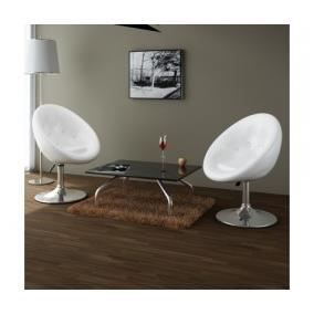2 x fauteuil r tro capitonn blanc pied tulipe achat vente fauteuil cdiscount. Black Bedroom Furniture Sets. Home Design Ideas