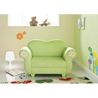 canap pour enfant tissu anemone vert achat vente. Black Bedroom Furniture Sets. Home Design Ideas