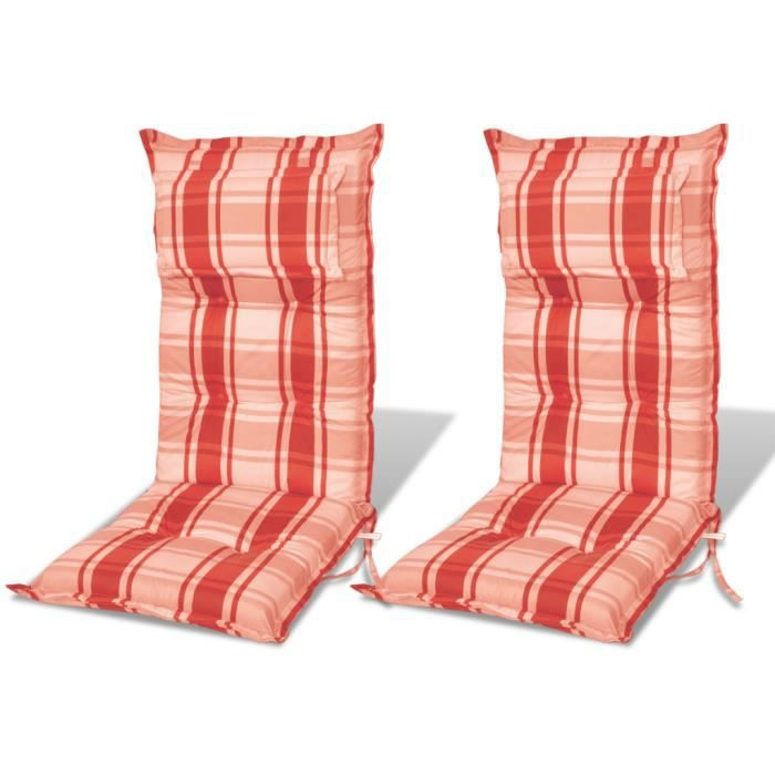 coussin pour chaise de jardin rouge et orange 8cm achat vente coussin de chaise cdiscount. Black Bedroom Furniture Sets. Home Design Ideas