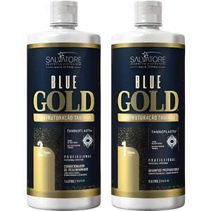 DÉFRISAGE - LISSAGE SALVATORE Lissage au tanin - Blue Gold - 2 x 1 L