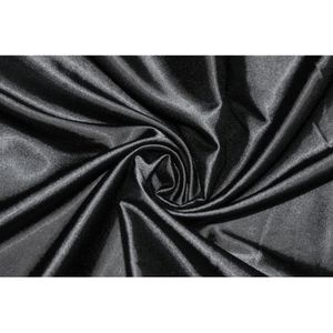 TISSU Tissu Satin Elasthanne Noir -Au Mètre