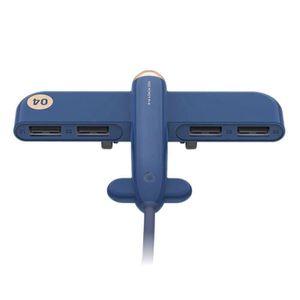 ORDINATEUR 2 EN 1 Hub USB 2.0 4 Ports Connecteur Splitter Adaptateur