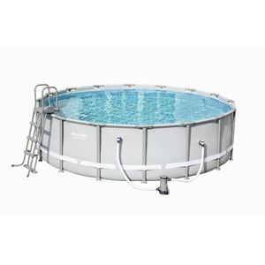 PISCINE BESTWAY Kit piscine ronde Power Steel Frame Pool -