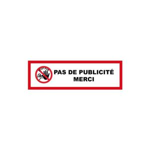 Sticker pas de pub