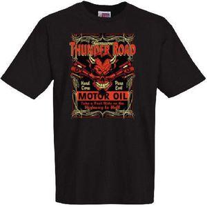 T-SHIRT Tee shirt biker skull thunder ro…
