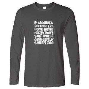 Dans ma défense Homme T-shirt manches longues T-Shirt
