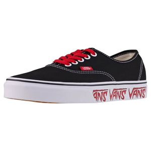 Vans Authentic Sketch Sidewall Hommes Baskets Noir rouge ...
