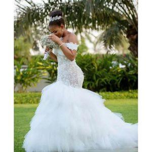 ROBE DE MARIÉE XS-XXXXL Carte épaule robe de mariée mariée en que
