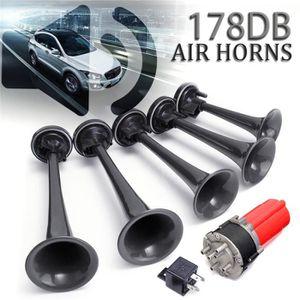 Klaxon de voiture triple air 12 V avec compresseur moyenne et basse tonalit/é mat/ériel Haute