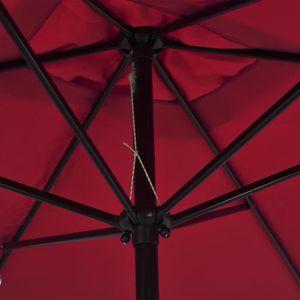 PARASOL Parasol avec mât en métal 300 x 200 cm Bordeaux