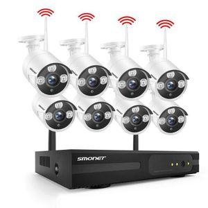 CAMÉRA DE SURVEILLANCE Système de Caméra Kit de WiFi Vidéo Surveillance s