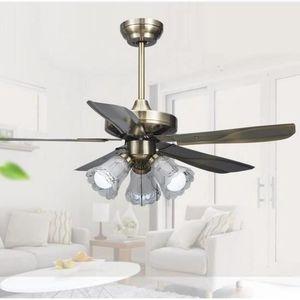 VENTILATEUR DE PLAFOND STOEX Ventilateur de Plafond Réversible Bronze ave