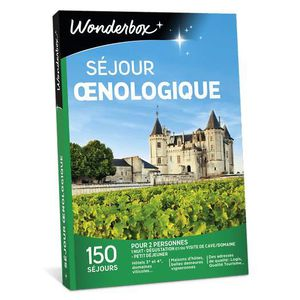 COFFRET OENOLOGIE Wonderbox - Coffret cadeau - Séjour œnologique - 1