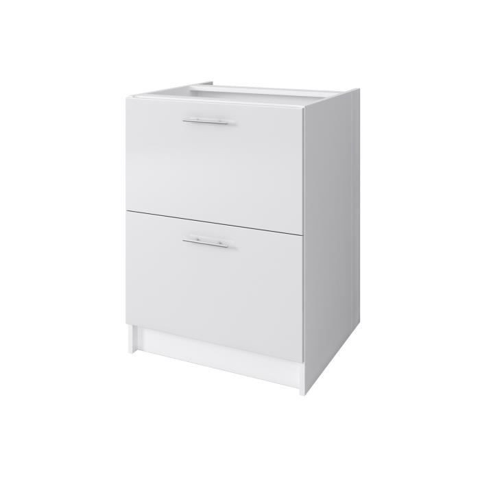 city meuble bas casserolier 60 cm laqu blanc brillant achat vente elements bas city. Black Bedroom Furniture Sets. Home Design Ideas