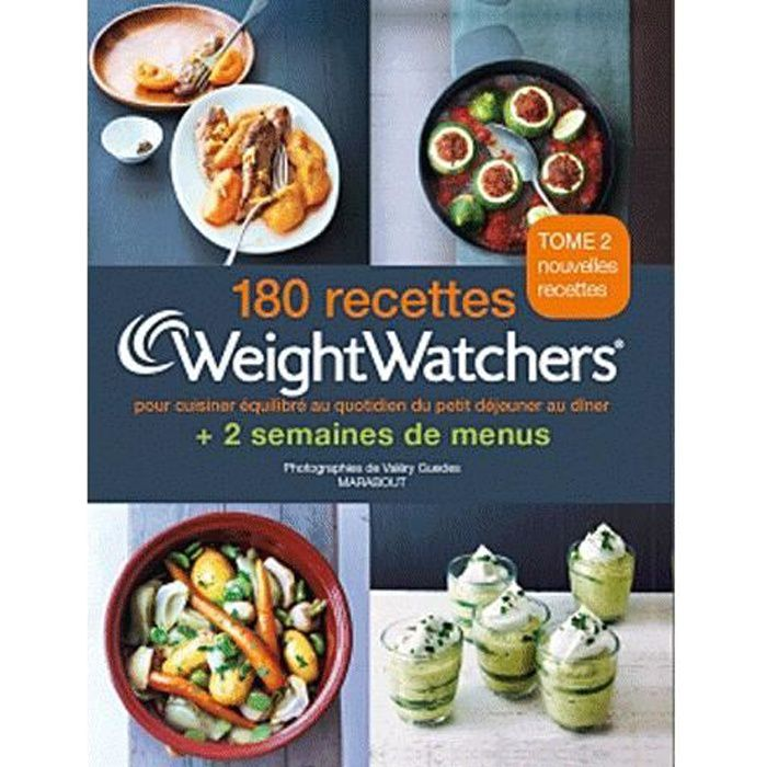 180 recettes 2 semaines de menus weight watchers achat vente livre weight watchers. Black Bedroom Furniture Sets. Home Design Ideas