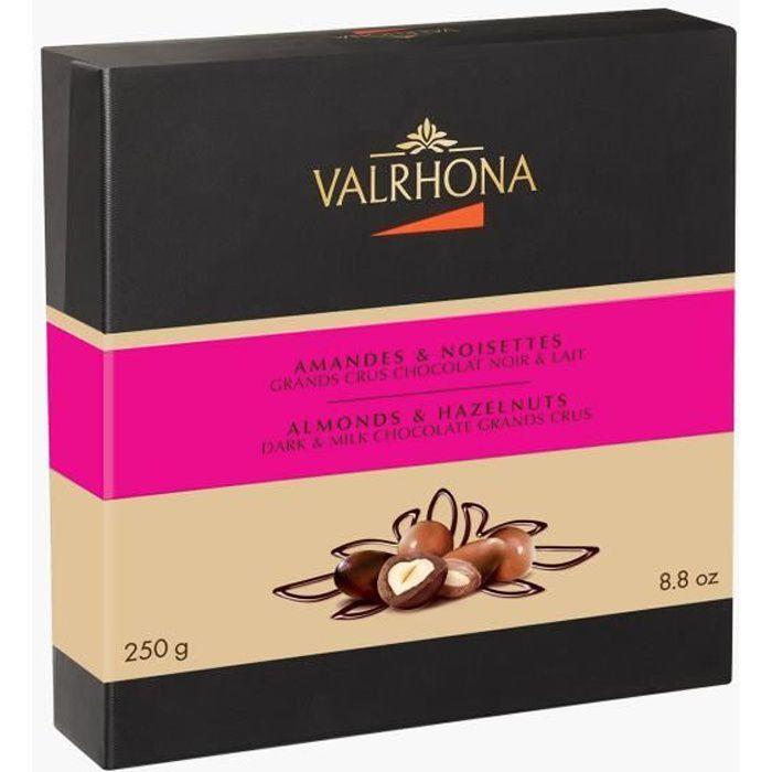 Valrhona - Coffret Equinoxe - Amandes & Noisettes - Grands Crus Chocolat Noir & Lait - 250g
