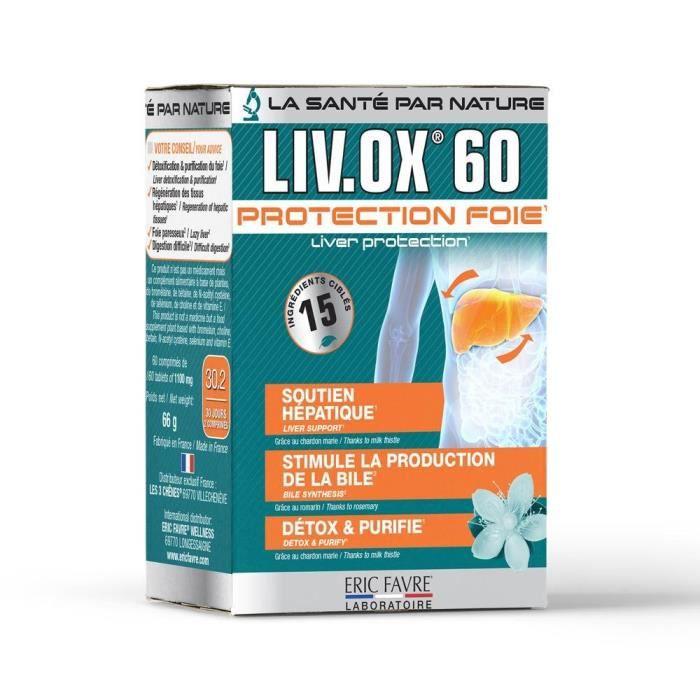 Eric Favre - LIV.OX® 60 - Pour une Detox du foie efficace