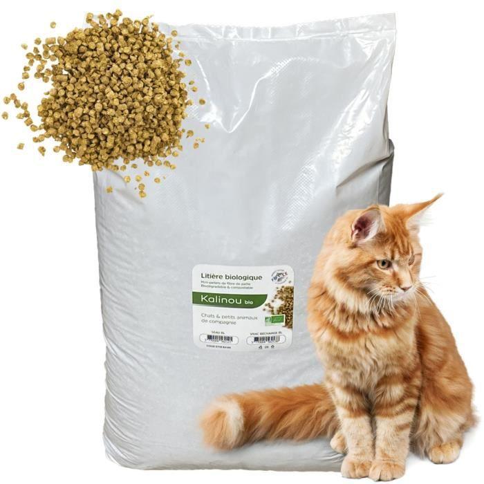Litière Pour Chats BIO naturelle 30 Litres - Kalinou
