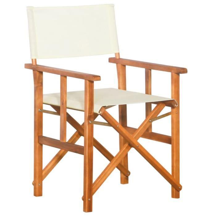MODERNE Chaise de jardin Bois massif d'acacia - Chaise d'extérieur ,Chaise de terrasse ,Fauteuil de balcon1115