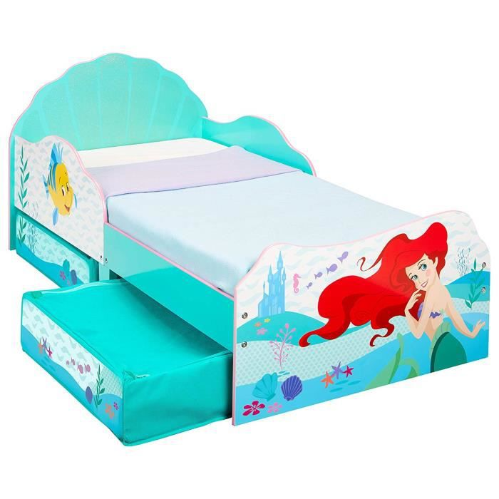 Worlds Apart Disney Princess ARIËL - PEUTERBED MET OPBERGRUIMTE Onder HET Bed