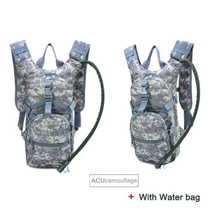 ACU Camo -Sac à dos tactique léger, sac à eau de survie chameau, sac à dos de randonnée hydratation, pochette militaire, sac à dos p