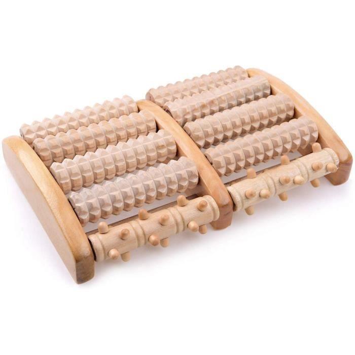 Accessoires de massage manuel IREGRO Double Rouleau de Massage des Pieds en Bois, Soulager la Fasciite Plantaire, le Tal 179241