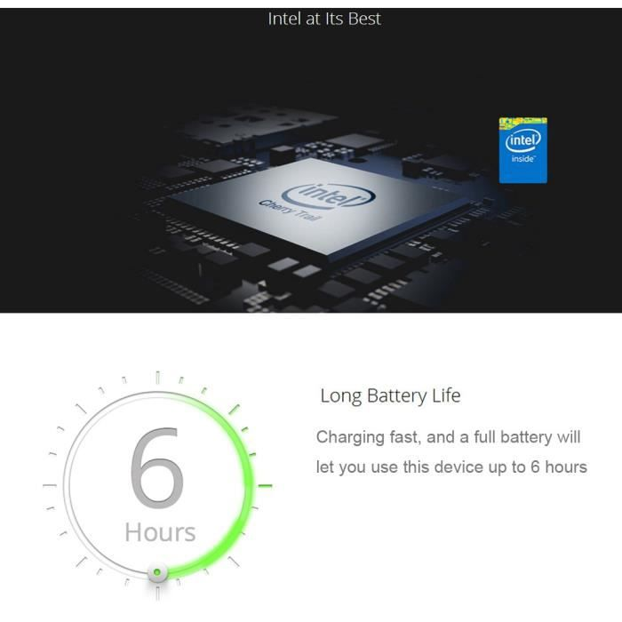 [Neuf] Téléphone Mobile Smartphone Tablette Hongsamde, 10,1 pouces, 2 Go + 32 Go, Windows 10 et Android 5.1, Intel Cherry Trail
