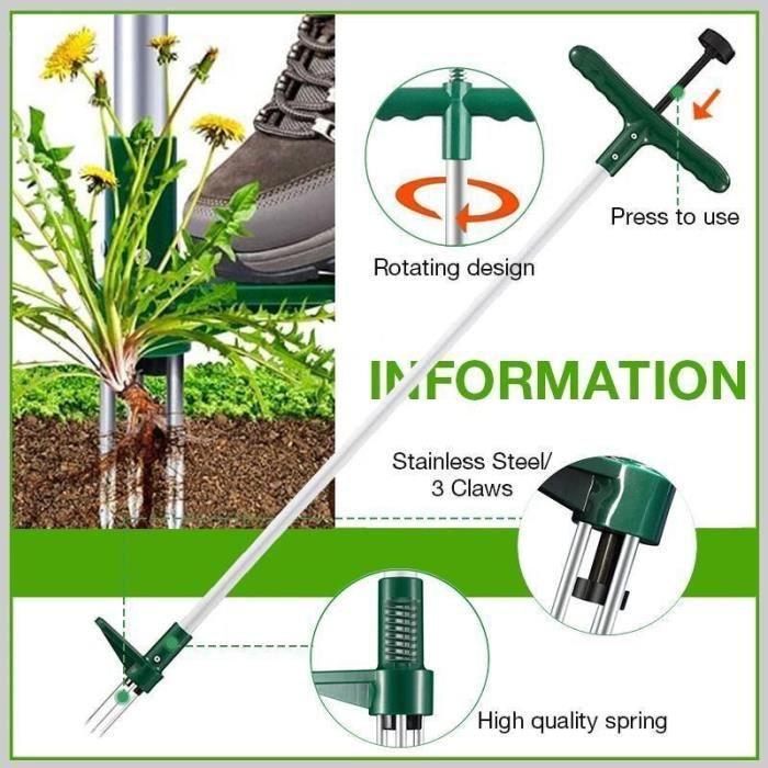 Désherbage Durable de racines de plantes sur pied, extracteur d'herbe pour pelouse de jardin extérieur, éléments de *YI0961