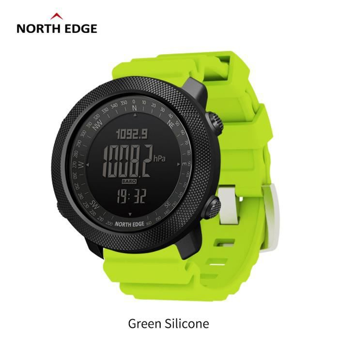 J North Edge APACHE Sports Smartwatch étanche 50 m natation altimètre baromètre boussole escalade militaire montre intelligente La